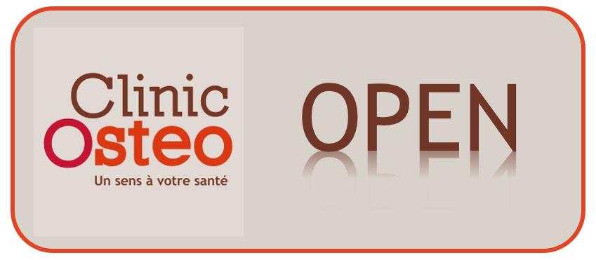 CLINIC-OSTEO OUVERT PENDANT LE CONFINEMENT